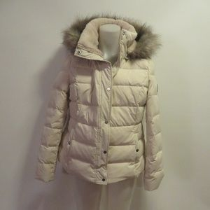 NWT RALPH LAUREN CREAM DOWN JACKET W HOOD XL